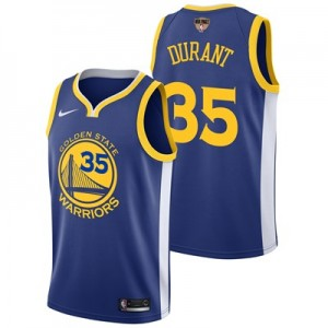 Nike Golden State Warriors Nike Icon Swingman Jersey - Finals Patch - Kevin Durant - Mens Golden State Warriors Nike Icon Swingman Jersey - Finals Patch - Kevin Durant - Mens