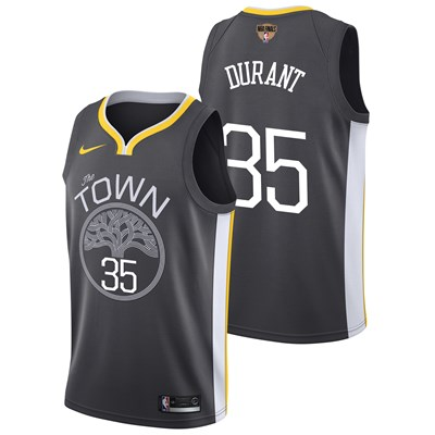 Nike Golden State Warriors Nike Statement Swingman Jersey - Finals Patch - Kevin Durant - Mens Golden State Warriors Nike Statement Swingman Jersey - Finals Patch - Kevin Durant - Mens