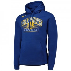Golden State Warriors Nike Crest Logo Hoodie - Rush Blue - Mens
