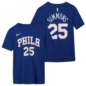 Philadelphia 76ers Nike Ben Simmons Icon Name & Number T-Shirt - Youth