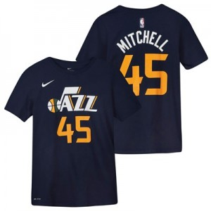 Utah Jazz Nike Donovan Mitchell Icon Name & Number T-Shirt - Youth