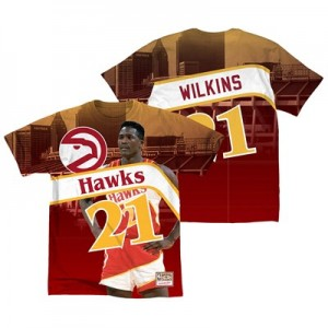 Atlanta Hawks Wilkins City Pride Name & Number T-Shirt By Mitchell & Ness - Mens