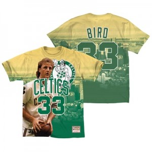 Boston Celtics Bird City Pride Name & Number T-Shirt By Mitchell & Ness - Mens