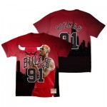 Chicago Bulls Rodman City Pride Name & Number T-Shirt By Mitchell & Ness - Mens