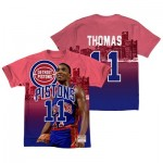 Detroit Pistons Thomas City Pride Name & Number T-Shirt By Mitchell & Ness - Mens