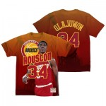 Houston Rockets Olajuwon City Pride Name & Number T-Shirt By Mitchell & Ness - Mens
