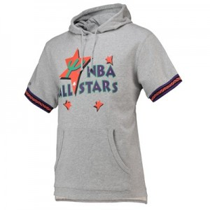 NBA 1995 All-Star French Terry Short Sleeve Hoodie By Mitchell & Ness - Mens