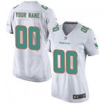 Miami Dolphins Road Game Jersey - Custom - Womens