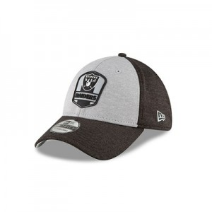 Oakland Raiders New Era Official Sideline Road 39THIRTY Stretch Fit Cap