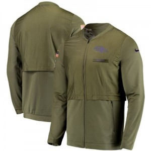Baltimore Ravens Nike FZ Elite Hybrid Salute to Service Jacket - Mens