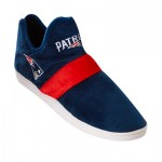 New England Patriots Colorblock Sneaker Slipper with TPR Sole