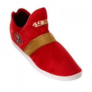 San Francisco 49ers Colorblock Sneaker Slipper with TPR Sole