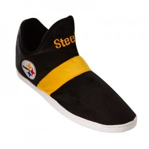 Pittsburgh Steelers Colorblock Sneaker Slipper with TPR Sole