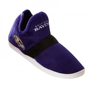 Baltimore Ravens Colorblock Sneaker Slipper with TPR Sole