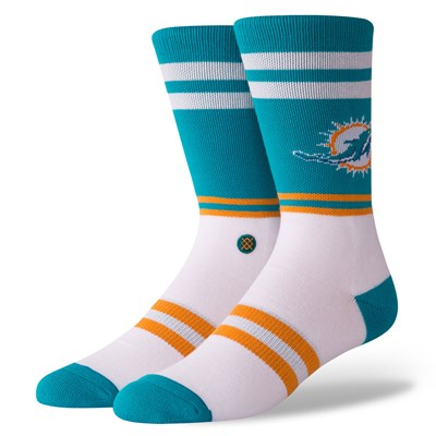 Miami Dolphins Stance Logo Sock - Mens