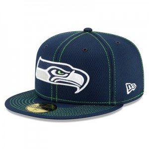 Seattle Seahawks New Era 2019 Official Road Sideline 59FIFTY Fitted Cap