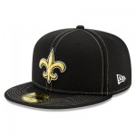 New Orleans Saints New Era 2019 Official Road Sideline 59FIFTY Fitted Cap