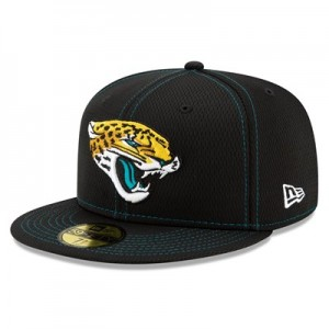 Jacksonville Jaguars New Era 2019 Official Road Sideline 59FIFTY Fitted Cap