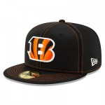 Cincinnati Bengals New Era 2019 Official Road Sideline 59FIFTY Fitted Cap