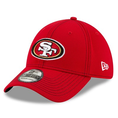 San Francisco 49ers New Era 2019 Official Road Sideline 39THIRTY Stretch Fit Cap