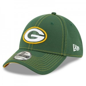 Green Bay Packers New Era 2019 Official Road Sideline 39THIRTY Stretch Fit Cap