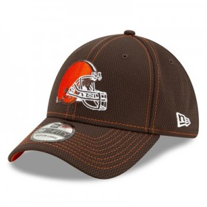 Cleveland Browns New Era 2019 Official Road Sideline 39THIRTY Stretch Fit Cap