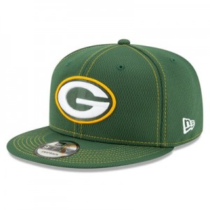 Green Bay Packers New Era 2019 Official Road Sideline 9FIFTY Snapback Cap