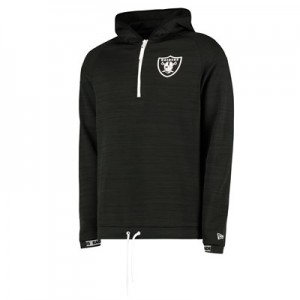 Oakland Raiders New Era Engineered Half Zip Hoodie - Mens