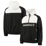 Oakland Raiders New Era Colour Block Half Zip Windbreaker - Mens