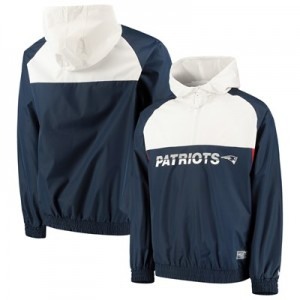 New England Patriots New Era Colour Block Half Zip Windbreaker - Mens