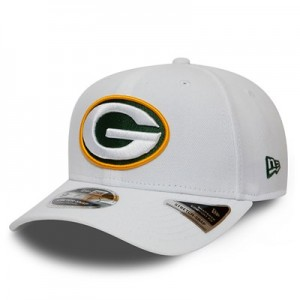 Green Bay Packers New Era Stretch Snap 9FIFTY Snpaback Cap - White