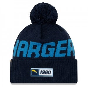 Los Angeles Chargers New Era 2019 Official Cold Weather Road Knit