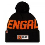 Cincinnati Bengals New Era 2019 Official Cold Weather Road Knit