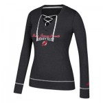 New Jersey Devils adidas Skate Lace Top - Womens