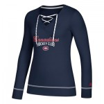Montreal Canadiens adidas Skate Lace Top - Womens