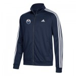 Edmonton Oilers adidas 3 Stripes Track Jacket - Mens