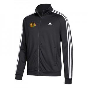 Chicago Blackhawks adidas 3 Stripes Track Jacket - Mens