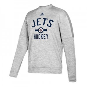 Winnipeg Jets adidas Fleece Climawarm Crew - Mens