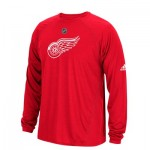 Detroit Red Wings adidas Long Sleeve Climalite T-Shirt - Mens