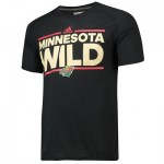 Minnesota Wild adidas Authentic Ice Short Sleeve Climalite T-Shirt - Mens