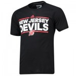 New Jersey Devils adidas Authentic Ice Short Sleeve Climalite T-Shirt - Mens