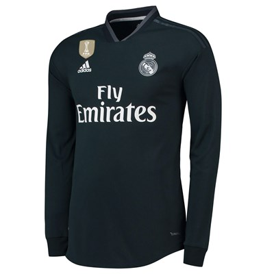 Real Madrid Away Authentic Shirt 2018-19 - Long Sleeve