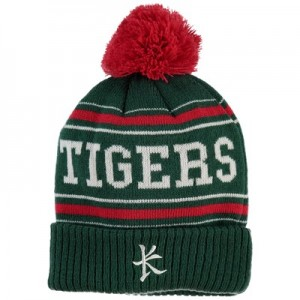 Leicester Tigers Bobble Hat - Green - Adult