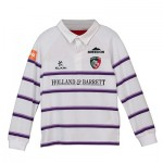 Leicester Tigers Alternate Classic Jersey Long Sleeve 2018/19 - White/Purple - Junior